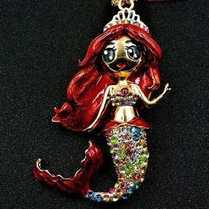 Jewelry - NEW 3D Ariele The Little Mermaid Crystal Necklace